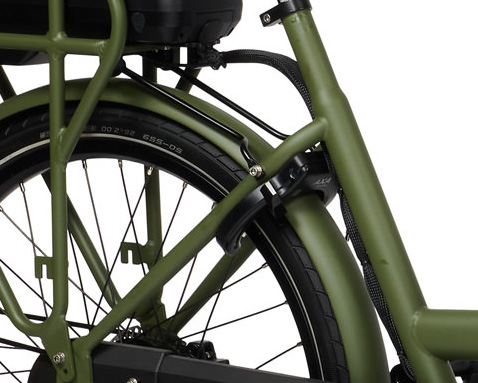 E-Dolly Bakfiets MaxDrive 600Wh Army Green Mat